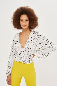 TS04W05MMON_Zoom_M_1 spot plisse blouson wrap top £30 limited sizes