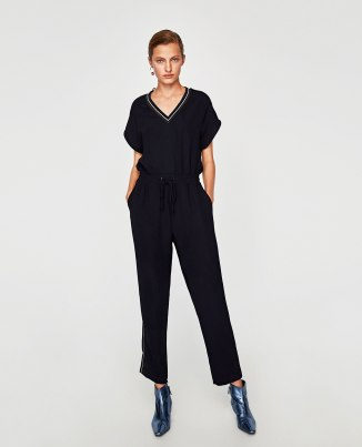 Zara jumpsuit, with contrast stripe, £49.99