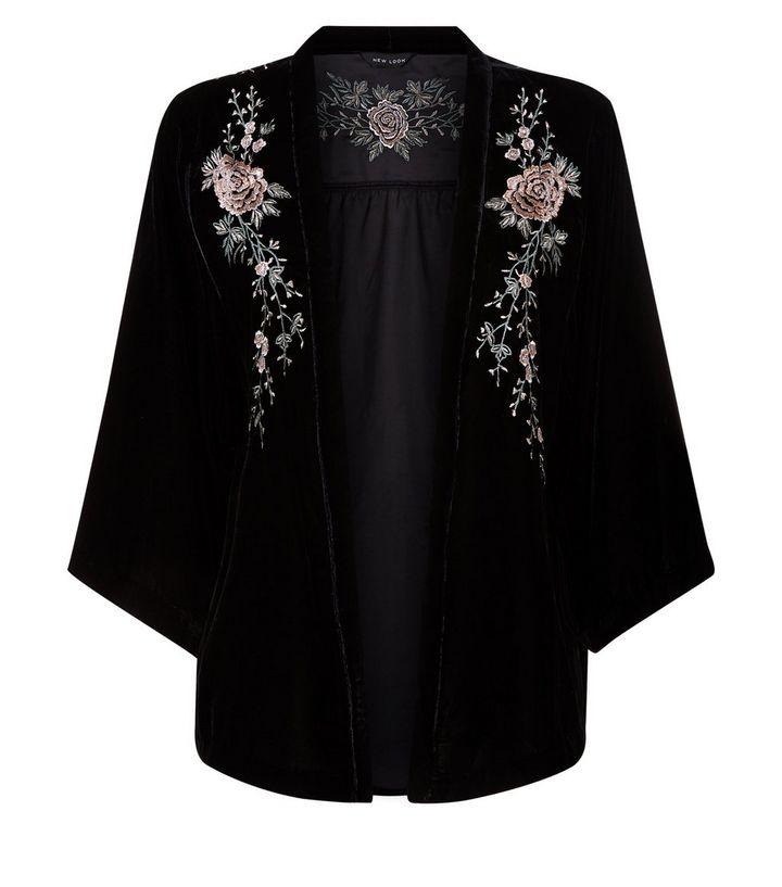 black-velvet-embroidered-kimono NL £34.99