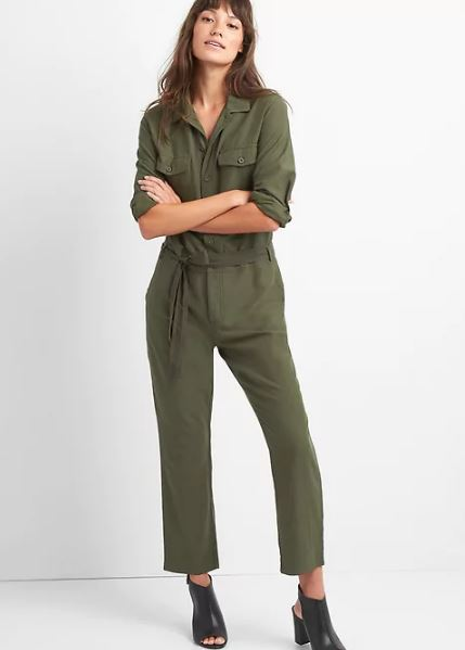 Gap jumpsuit £69.96 in Black Moss