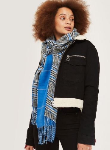 Topshop Double faced check scarf £20