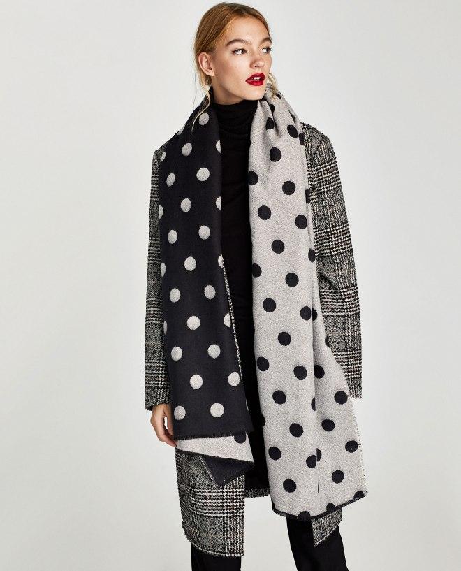 Zara Polka Dot Scarf £25.99