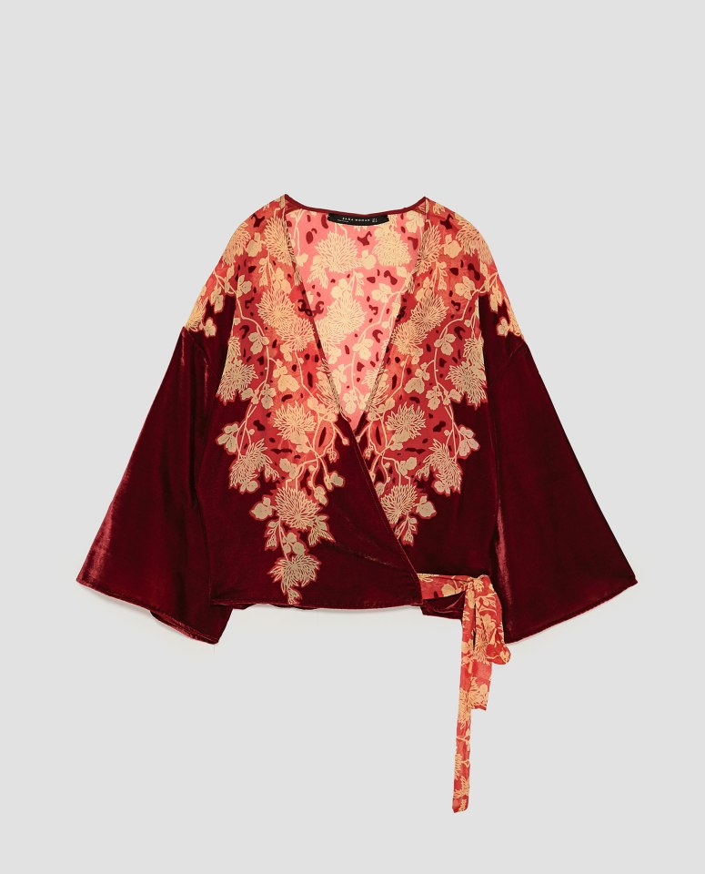 zara printed kimono £39.99