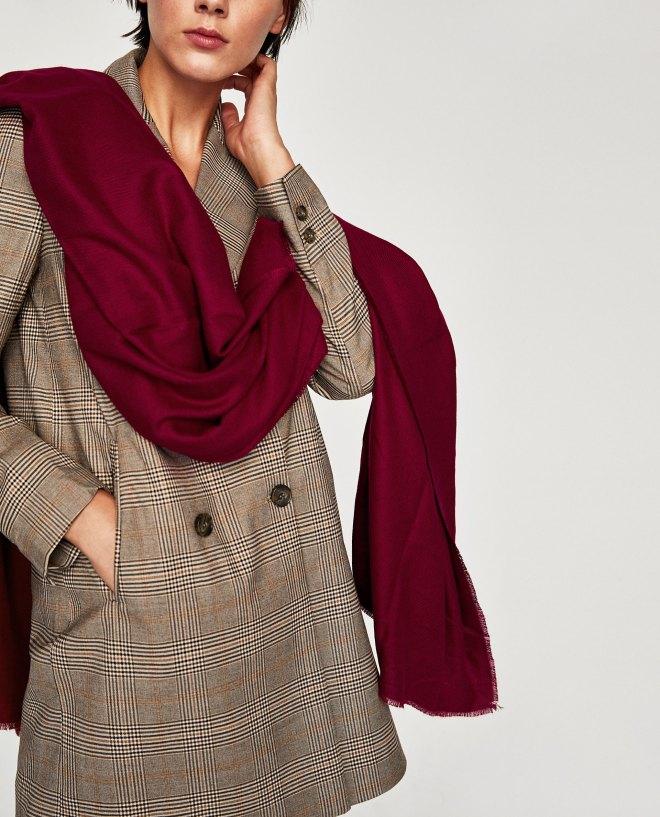 Zara Soft Scarf Burgandy £19.99