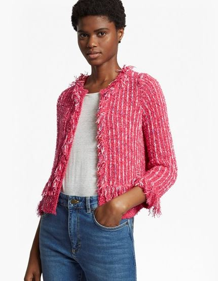 French Connection Burliuk Boucle Knict cardigan £85