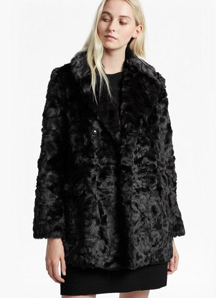 French Connection Nariko Faux Fur coat £185