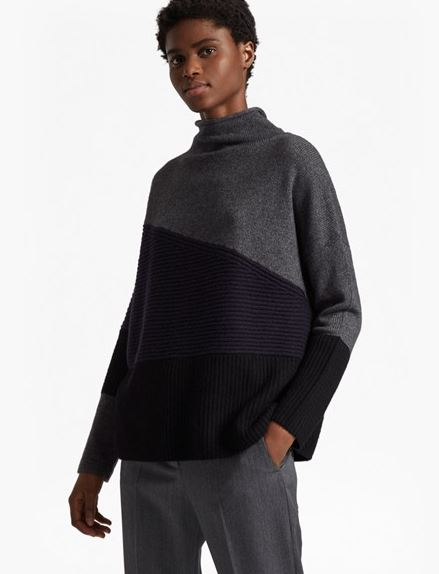 French Connection Patchwork knits jumper £90