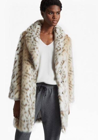 French Connection Paulette Faux Fur Coat £210