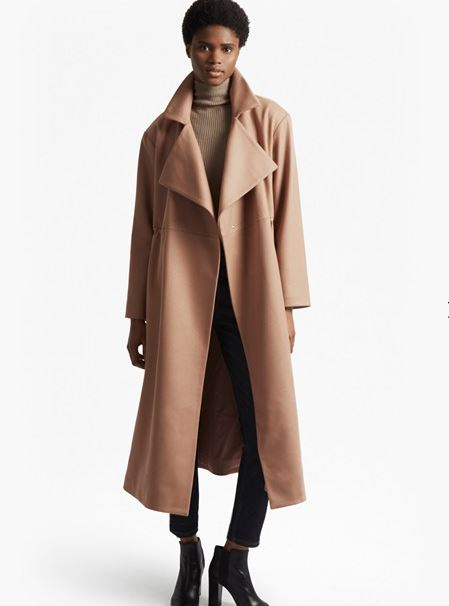 French Connection Platform Felt Cinched waist coat £230