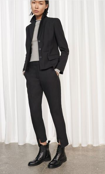 French Connection Tallulah Step hem trousers £95
