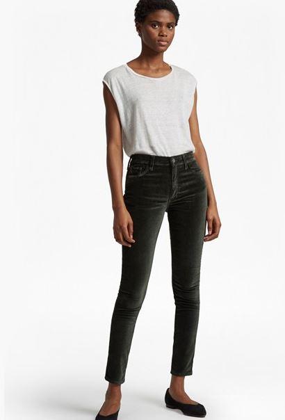 French Connection Velvet skinny jeans £85