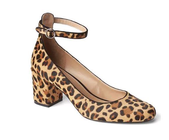 Gap Calf hair ankle strap block heel £64.95