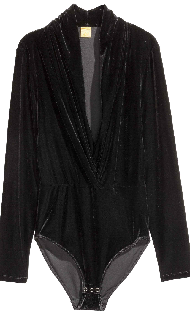 H&M Velvet Body black £24.99