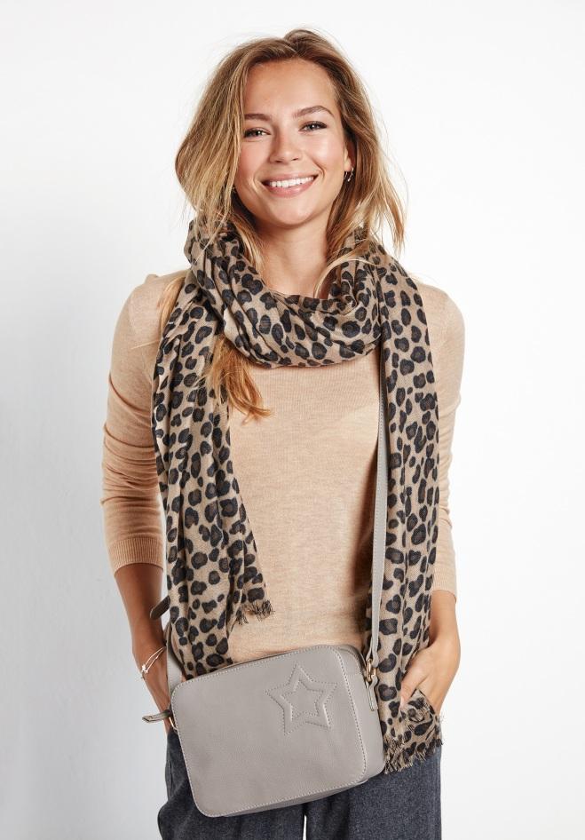 Hush Leopard Cashmere Scarf £159