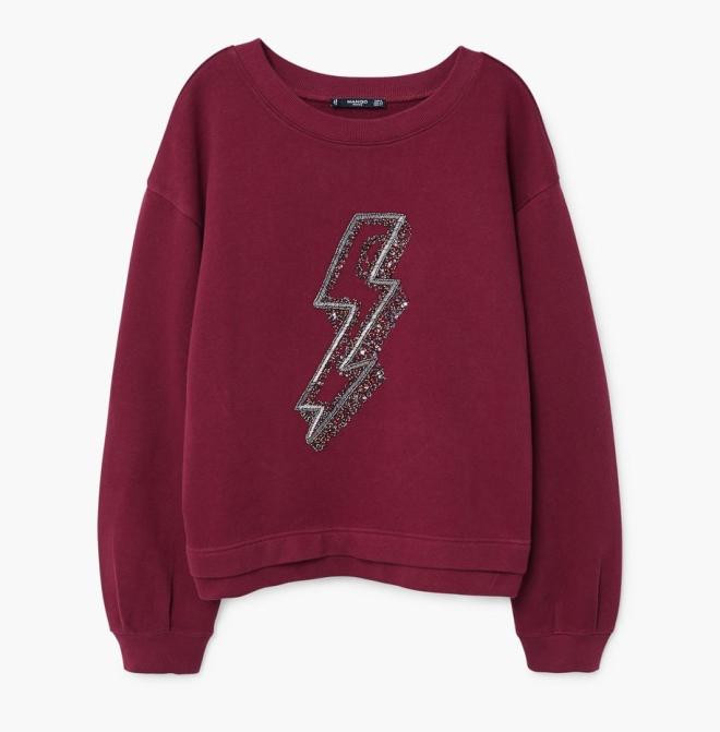 Mango Bead Detail Sweatshirt £35.99