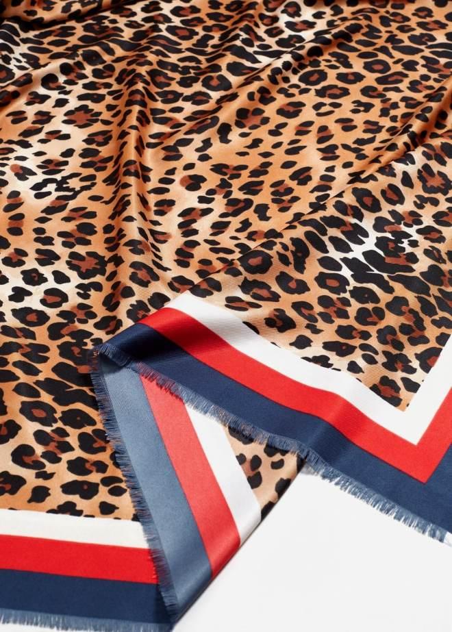 Mango Leopard print scarf £19.99 39x39inches