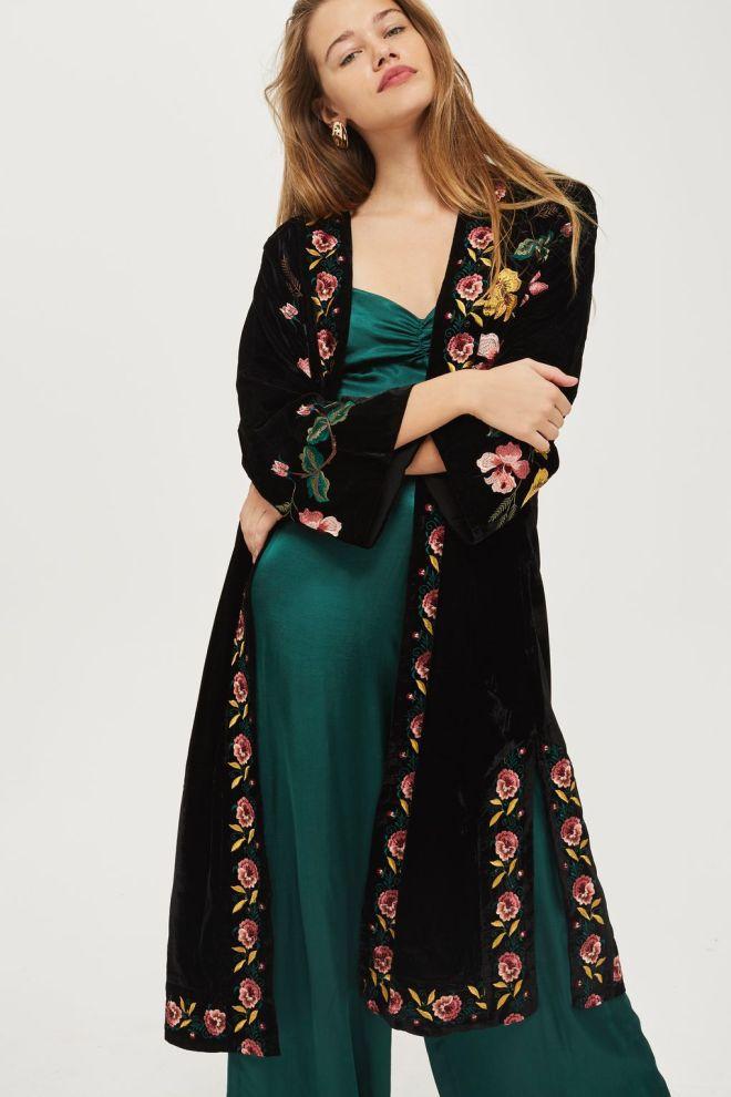 Topshop Embroidered Velvet Kimono £79