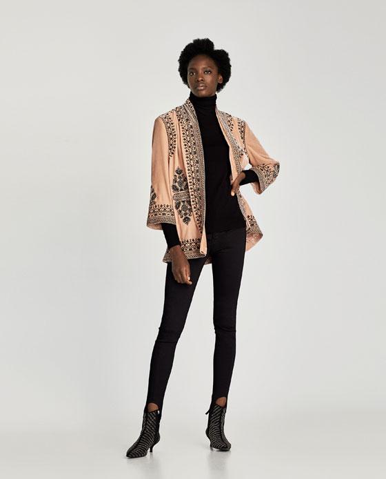 Zara Embroidered Velvet Kimono £89.99