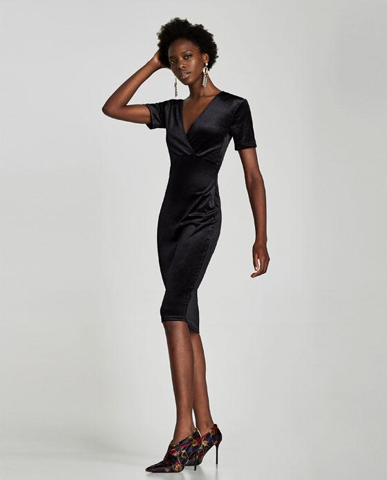 Zara Velvet dress £12.99