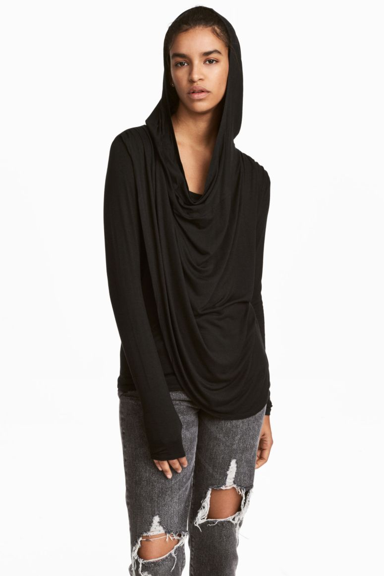 H&M draped hooded top £24.99