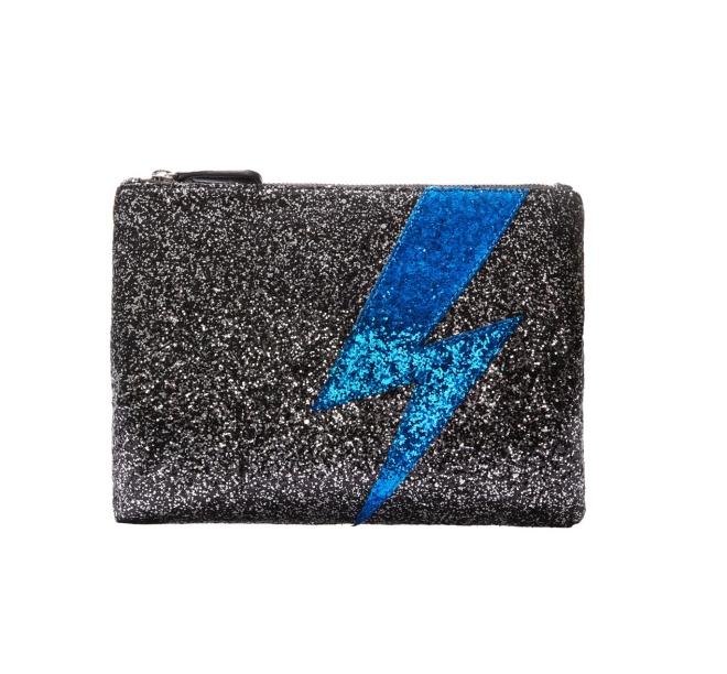 Hush Lightning Glitter Clutch £40
