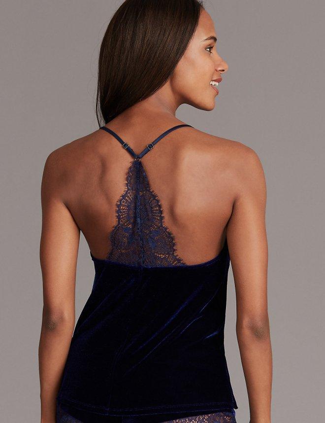 M&S Velvet & lace camisole £20