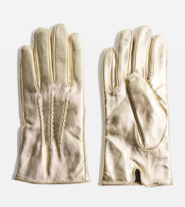 Topshop metallic leather £22
