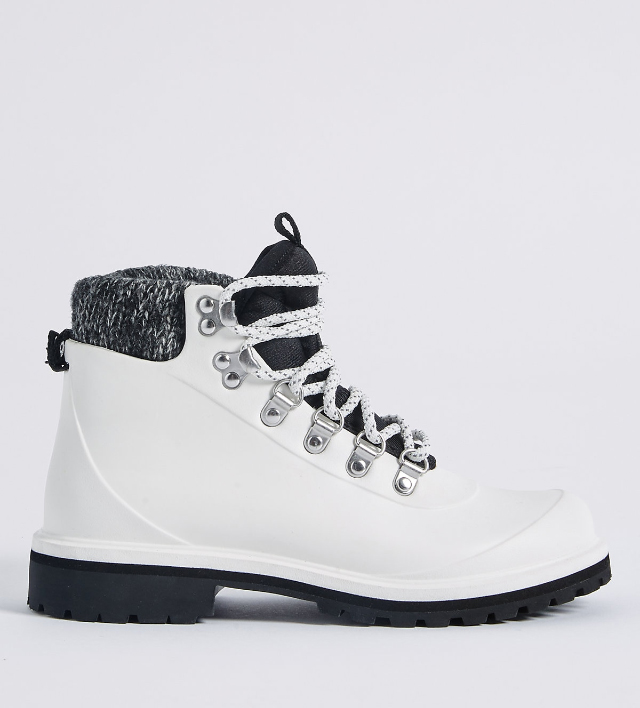 M&S waterproof lace up boots £59