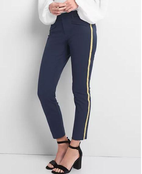 Gap Gold Stripe skinny ankle pants £14.99