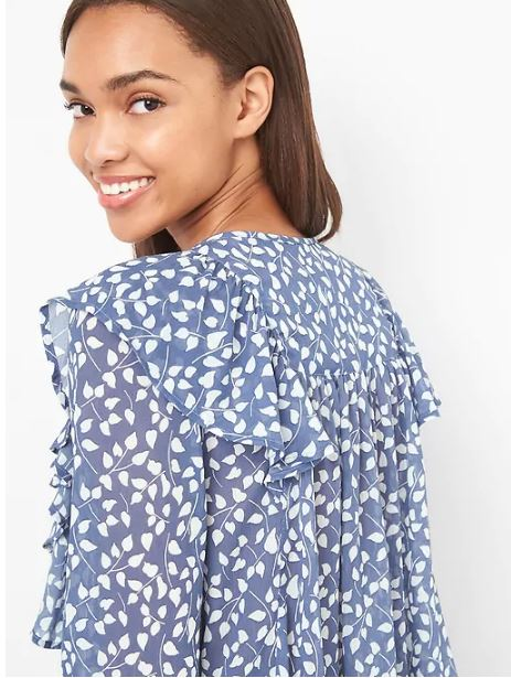 Gap Print Cascade ruffle top £35.99, was £80.95