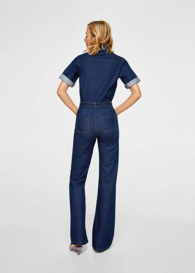 Mango belt denim jumpsuit £69.99