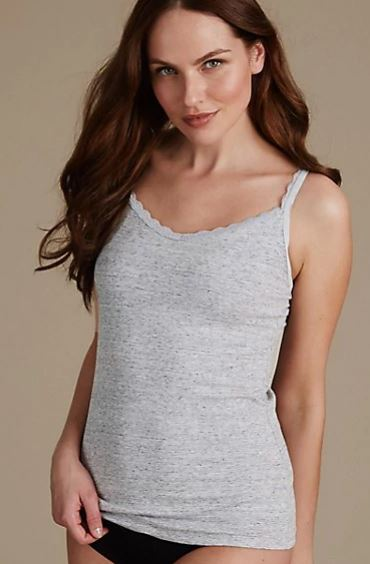 M&S Secret Support lace trim vest £9.50