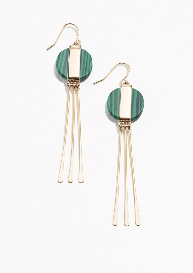 & Other Stories Circle Stone earrings £27