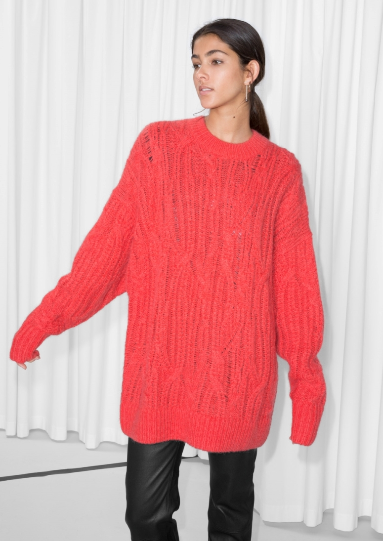 & Other Stories Oversized Cable Knit £89