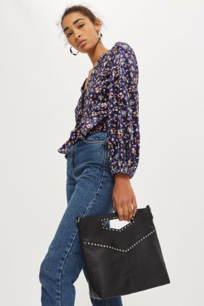 Topshop Leather Studded Grab bag £42