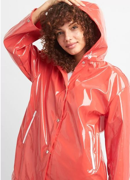 Gap High gloss hooded rain coat £69.95