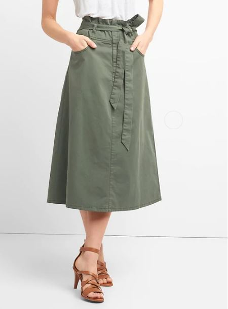Gap Paperbag Waist midi skirt £39.95