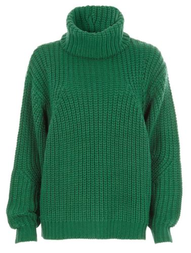 Green chunky knit roll neck jumper £42
