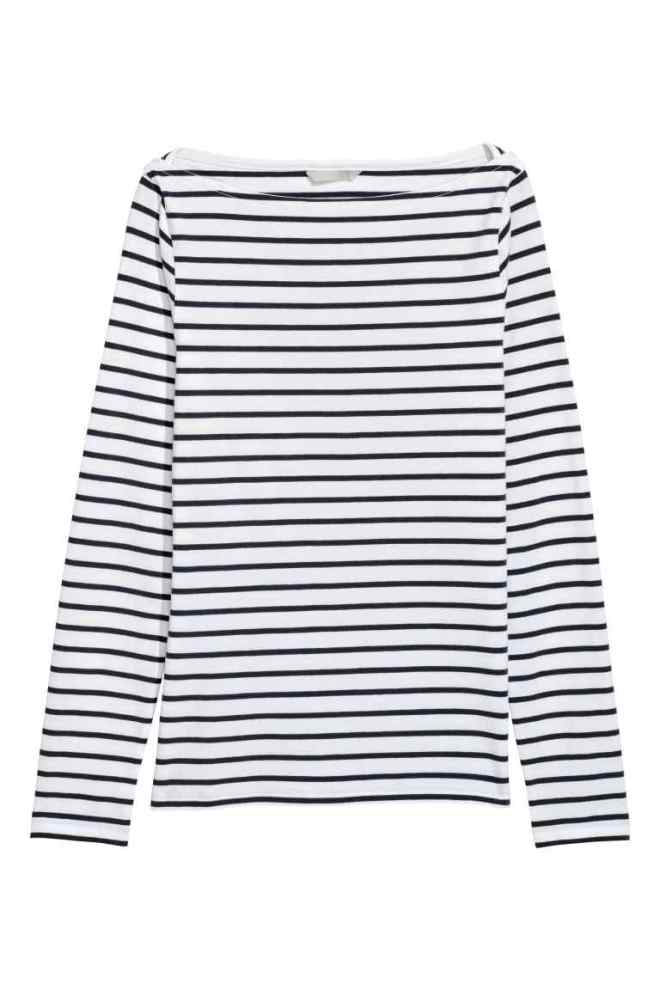 H&M boat neck pima cotton £12.99
