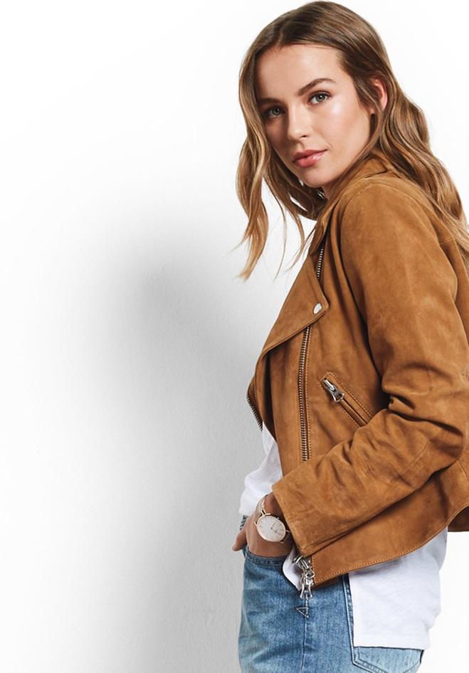Hush Suede biker jacket £295