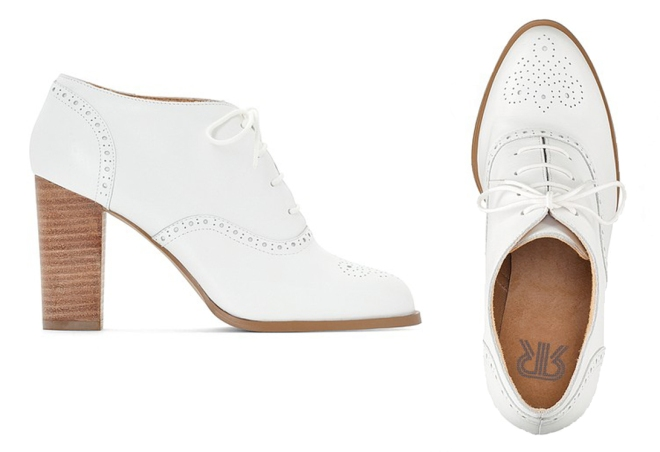 La Redoute White Heeled Brougues £75