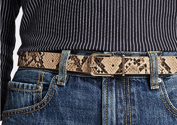 M&S faux snake skin belt £6
