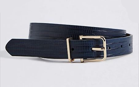 M&S faux snake skin belt in navy £6