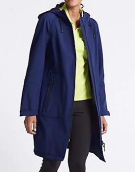 M&S Stormwear funnel neck coat £99