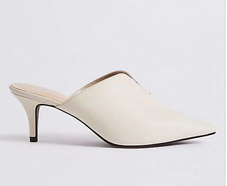 M&S white mules £25