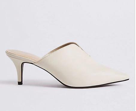 M&S white mules £25