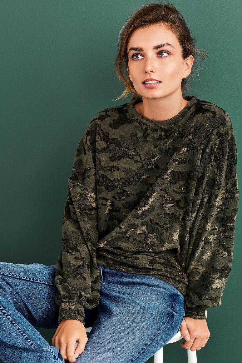 Next camo sweatshirt £30