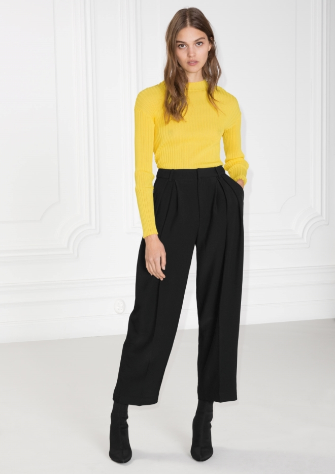 & Other Stories high waisted trouser £69