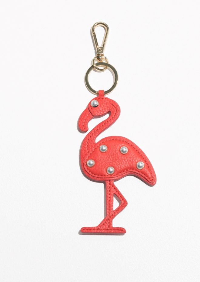 & Other Stories, Pearl Bead flamingo keyring £23