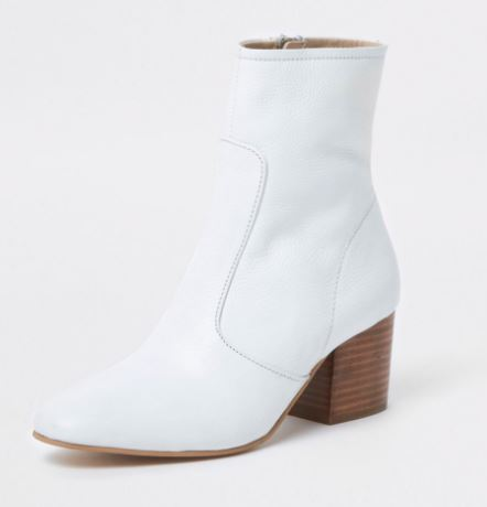 River Island block heel leather boots £60